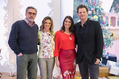 Fasano, Beca, Carol e Carlos Bertolazzi. Crédito: Artur Igrecias/SBT