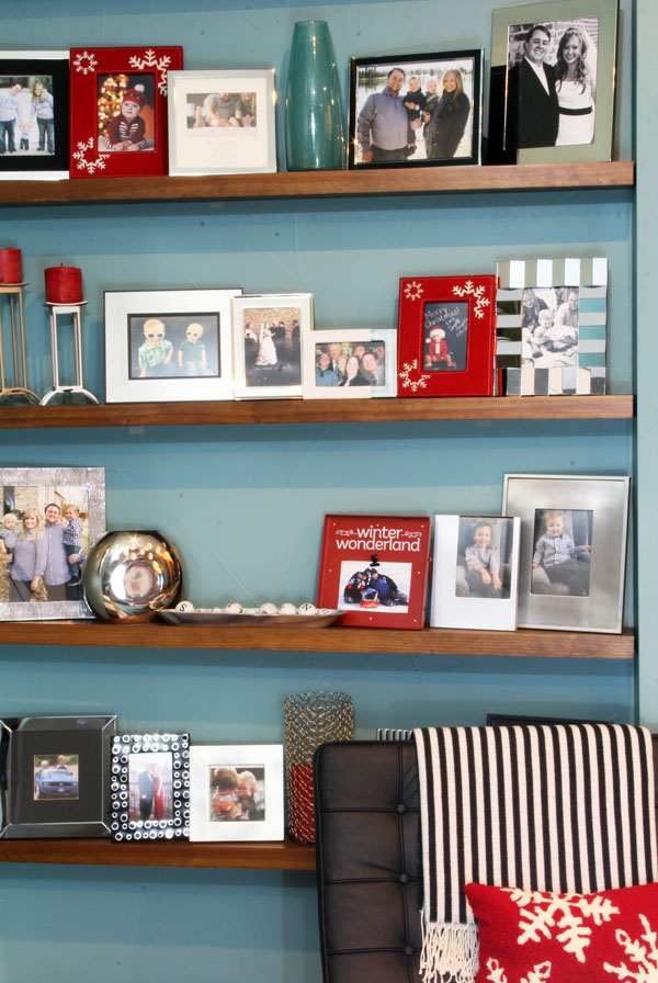 Christmas family photo gallery wall