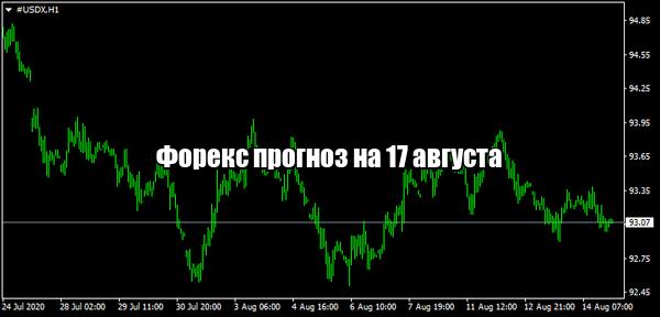 Форекс прогноз основных валютных пар на 17 августа