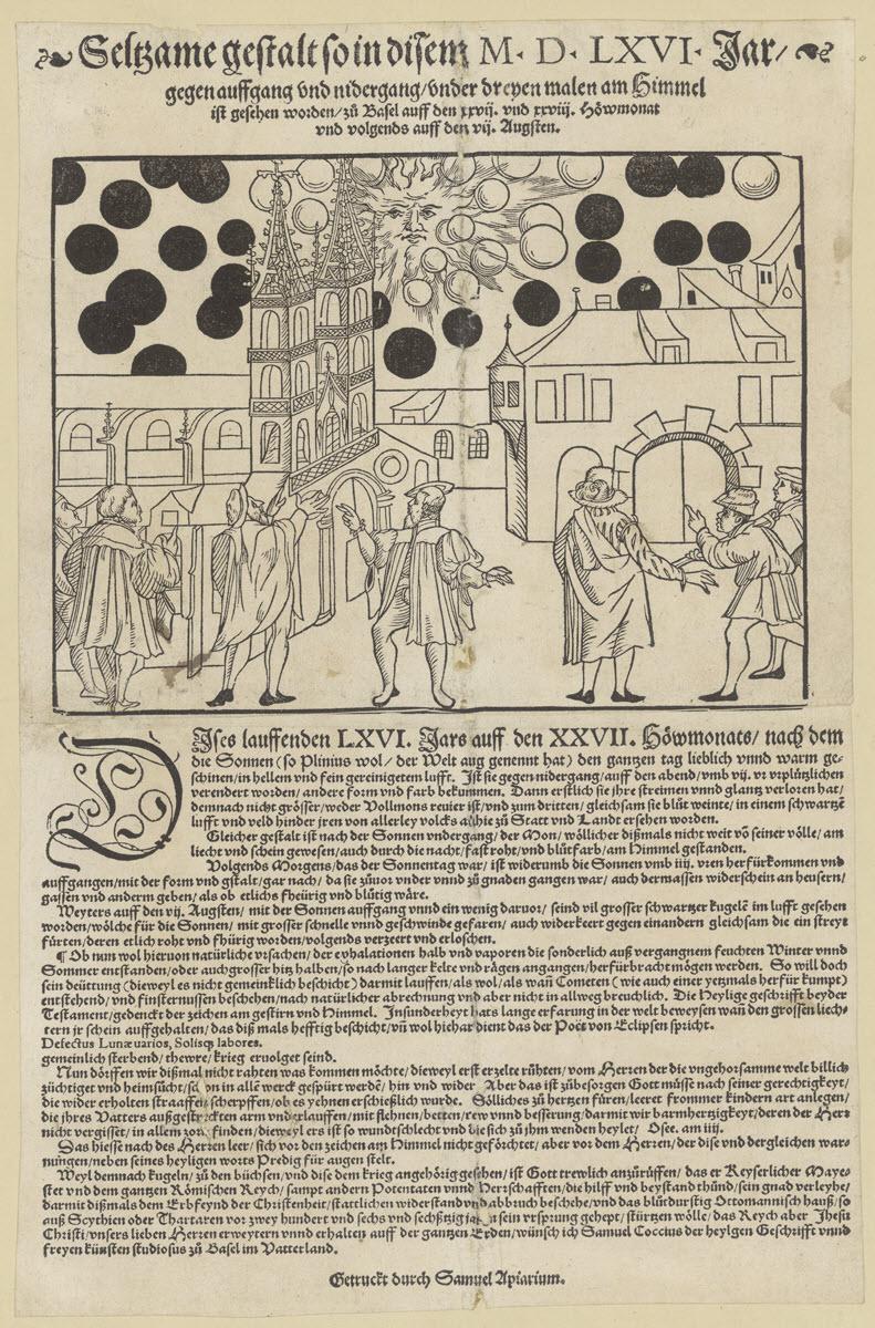 1566 celestial phenomenon over Basel