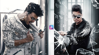 Broken Glass Photo Editing | kreditings | action movie poster photo editing