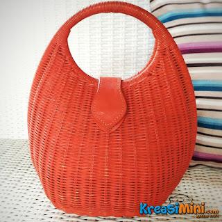 tas , tas rotan , tas merah , tas murah , merah , rotan