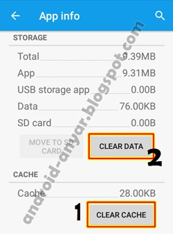Clear Cache Android app