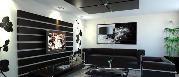 d coration salon en noir et blanc d coration salon d cor de salon. Black Bedroom Furniture Sets. Home Design Ideas