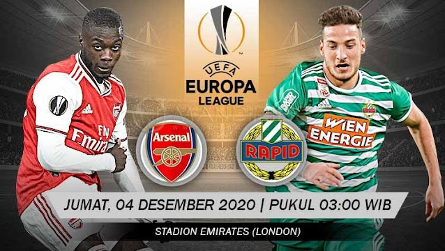 Prediksi Arsenal Vs Rapid Wien, Jumat 04 Desember 2020 Pukul 03.00 WIB @ SCTV