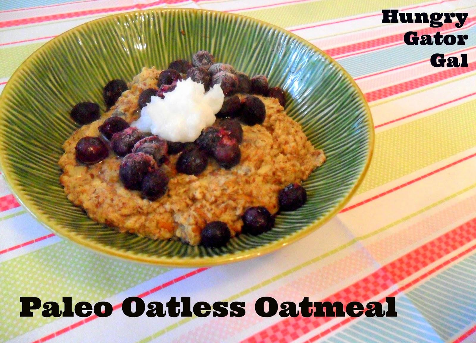 Paleo Oatless Oatmeal from Hungry Gator Gal