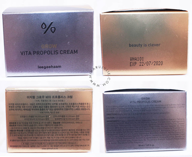 LJH Vita Propolis Cream korea skincare review