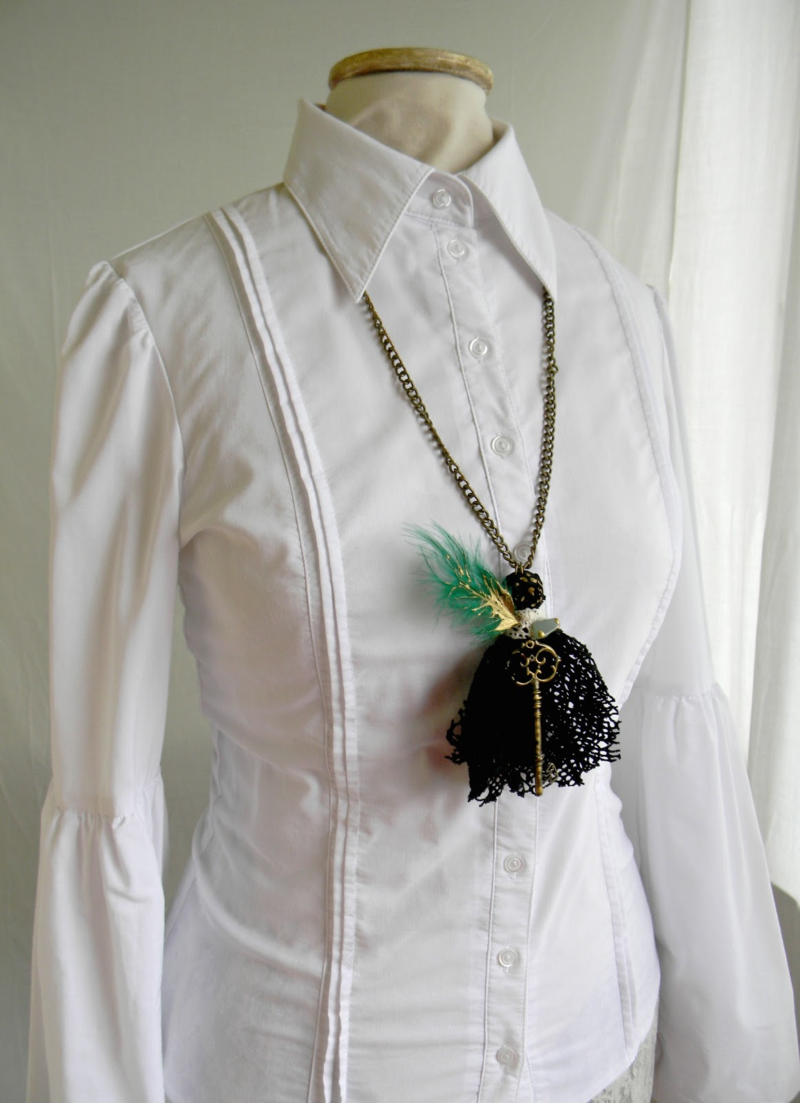 """Black fringe"" Necklace SOLD OUT"