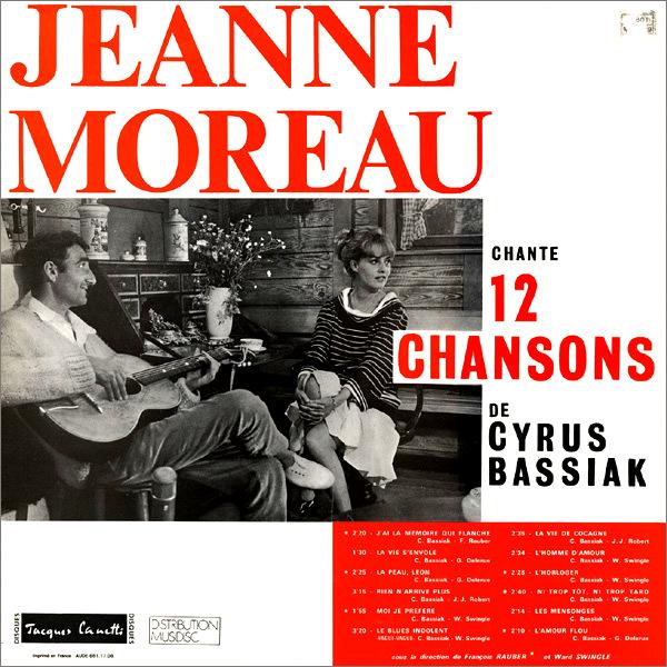 """Jeanne Moreau - """"Jeanne Moreau chante 12 chansons de Cyrus Bassiak"""" [1963]"""