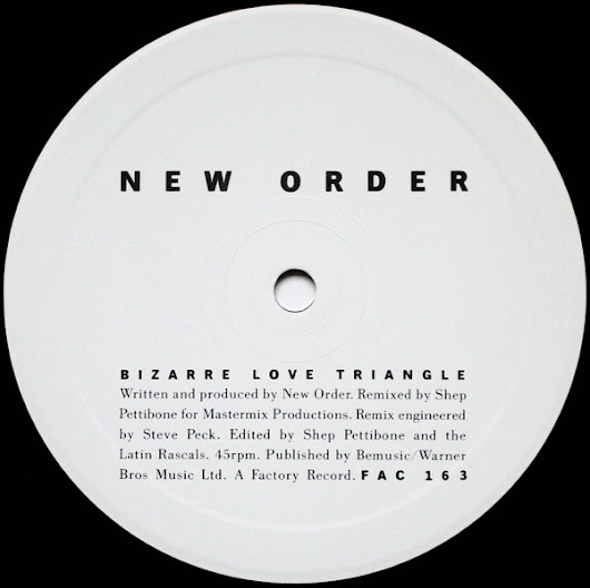 NEW ORDER - BIZARRE LOVE TRIANGLE (EXTENDED DANCE MIX)
