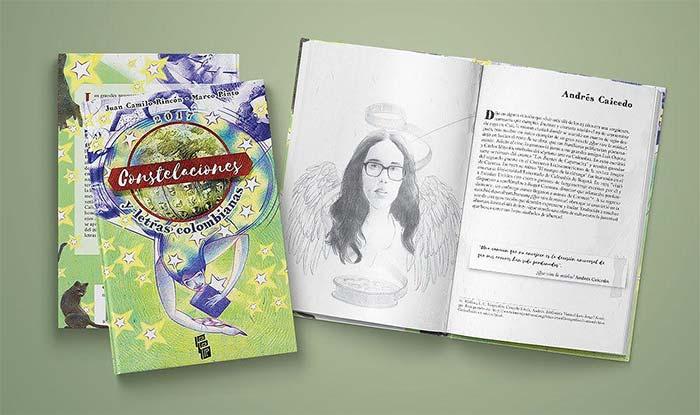Constelaciones y letras colombianas de Juan Camilo Rincón (textos) y Marco Pinto (ilustraciones)
