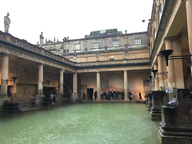 Rain pouring into the Great Bath, Roman Baths