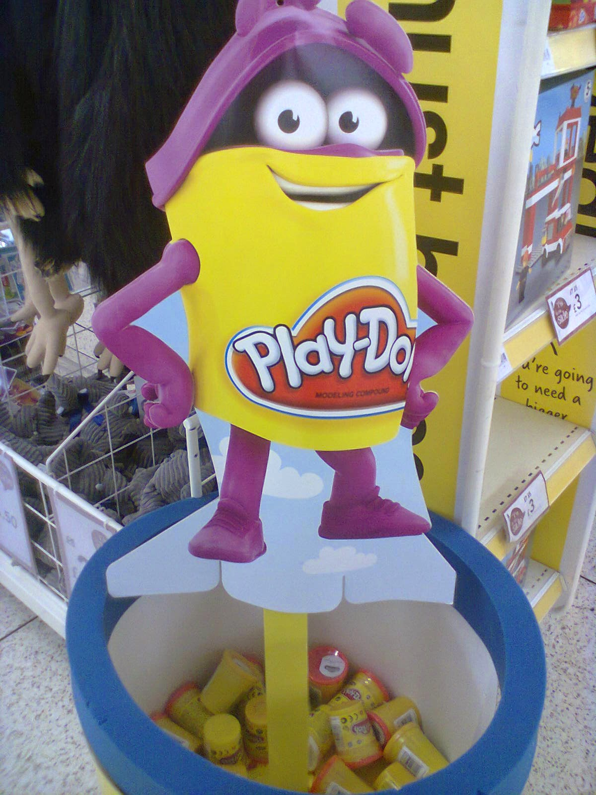 A big barrel of Play-Doh. This was as close as I dared get to it