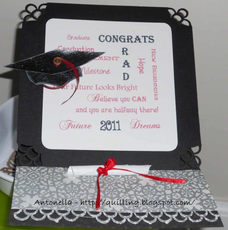 graduation easel card