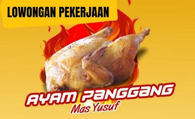 LOWONGAN PEKERJAAN Ayam Panggang Mas Yusuf Dibutuhkan Penjaga Stand Makanan dengan kualifikasi sebagai berikut : LAKI-LAKI  UMUR MAX 30 TAHUN  SEHAT  RAJIN  BERTANGGUNG JAWAB