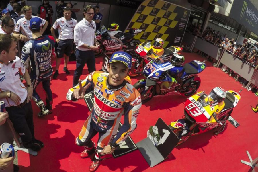 MotoGP 2016 Barcelona-Catalunya Spain Marquez Podium
