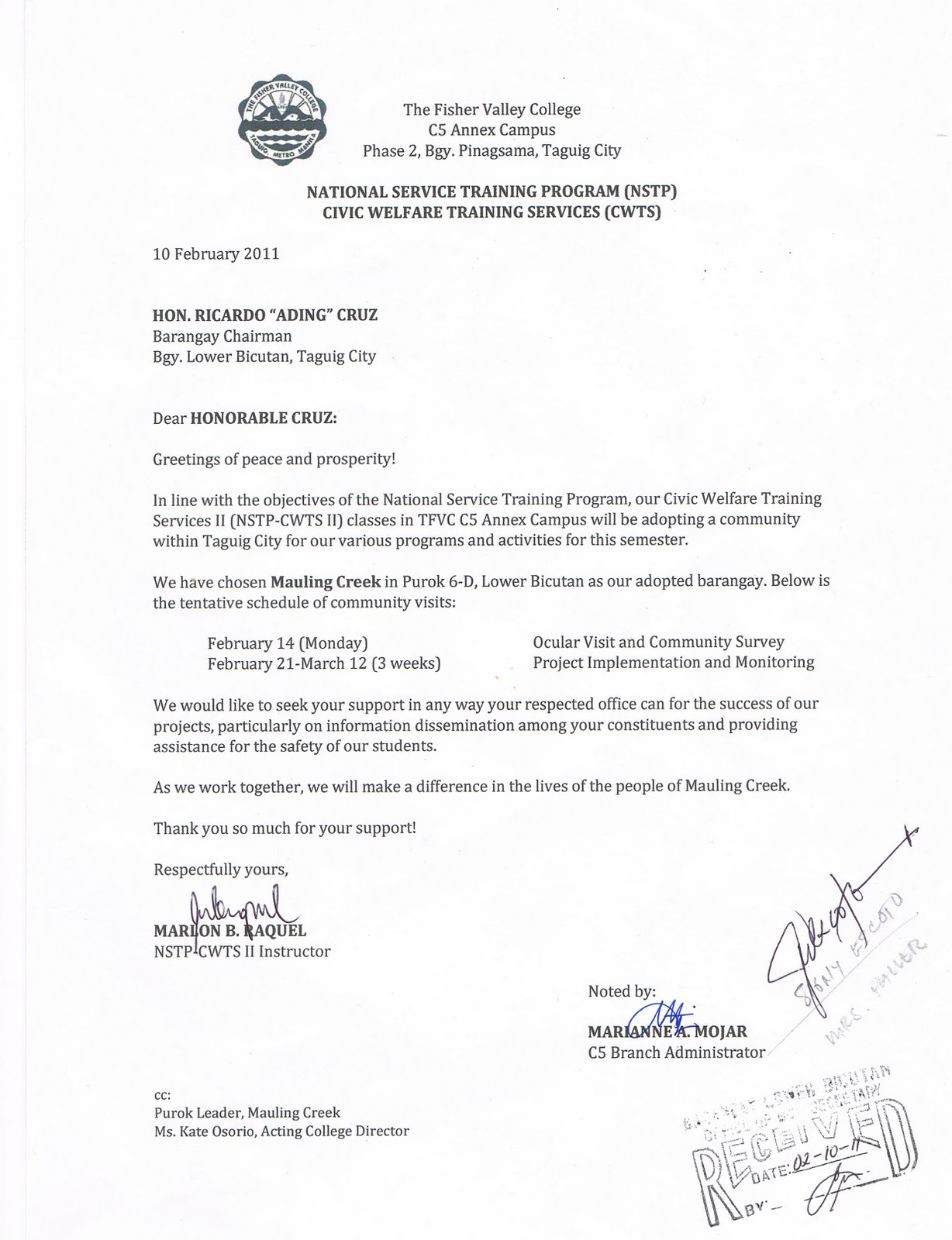 Sample Request Letter Honorable Dismissal College