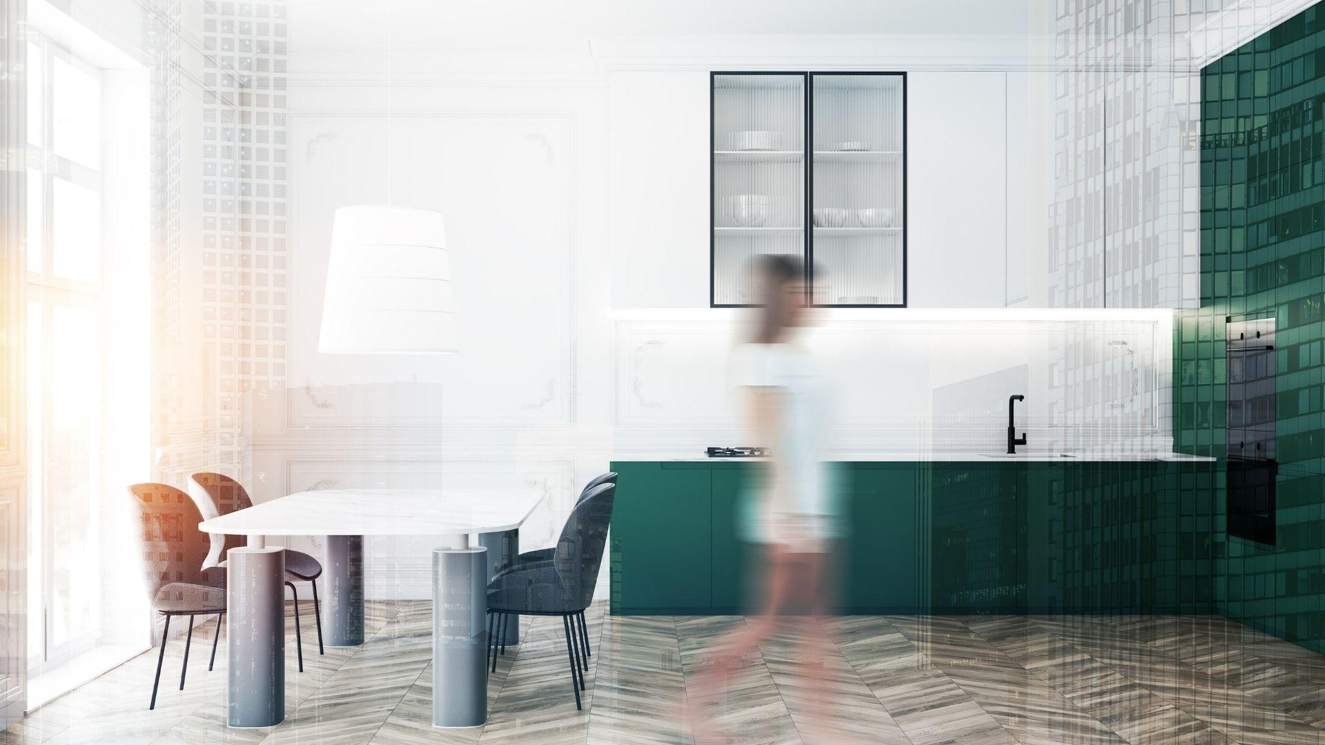 nowoczesne kuchnie zielone