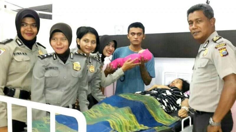 Suasana pasca tahanan wanita Polres Kampar, Riau melahirkan