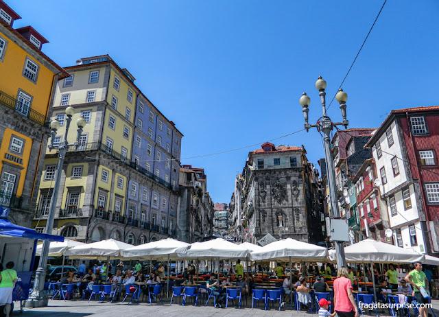 Restaurantes no Cais da Ribeira, Porto, Portugal