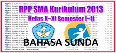 RPP Bahasa Sunda SMA/ SMK/ MA Kelas X, XI, XII Kurikulum 2013