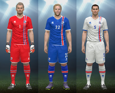 PES 2016 Iceland Euro 2016 Kits by IDK