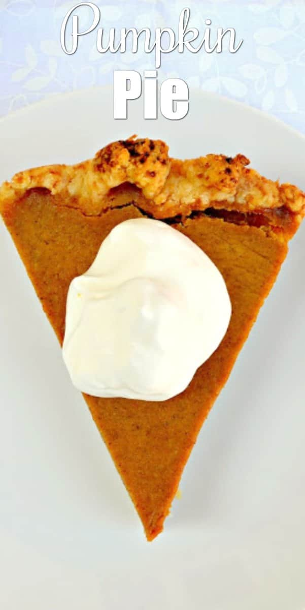 Easy Pumpkin Pie recipe is a classic Thanksgiving dessert. Pumpkin Pie is is easy to make from Serena Bakes Simply From Scratch.