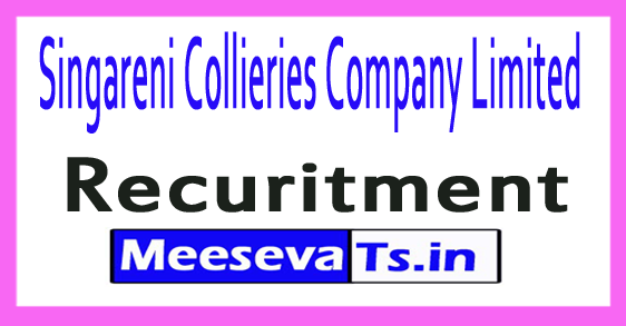 Singareni Collieries Company Limited SCCL Recruitment Notification 2017