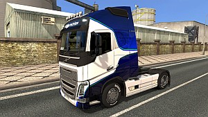 Blue and White skin for Volvo 2012