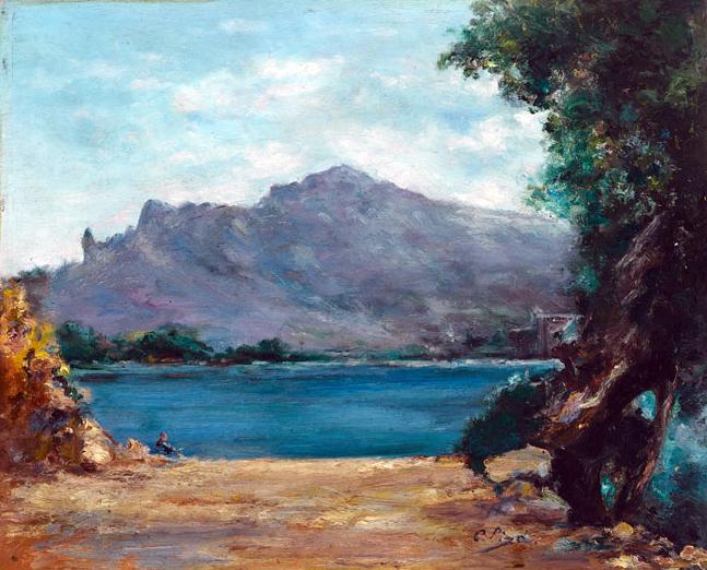 Cristofol Piza Bennasser, Puerto de Soller, Mallorca en Pintura, Mallorca pintada, Paisajes de Mallorca