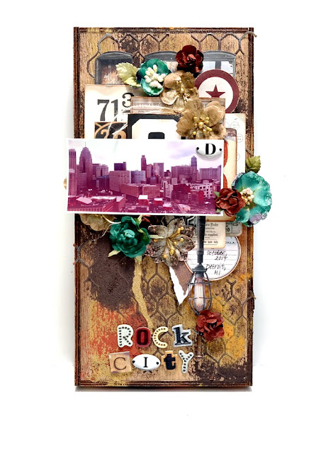Detroit Rock City Wood Vignette by Dana Tatar for Scraps of Darkness Kit Club