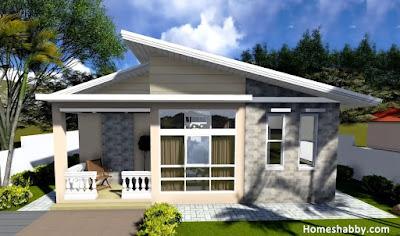 desain dan denah rumah minimalis ukuran 9 x 7 m dengan 3
