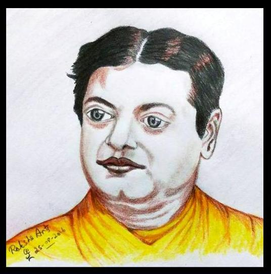 ORIGINAL DRAWING FOR SALE - Swami Vivekananda