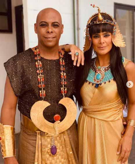 Faraó e rainha do egito em genesis