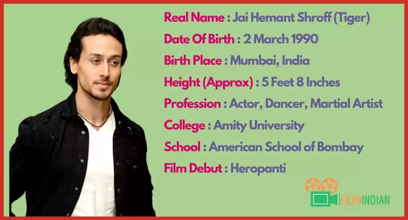 Tiger Shroff : Best Biography (2020), Family, Life story, Profile, Height and Weight