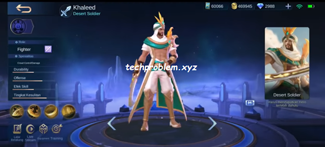 New Hero Khaleed, Tanggal Rilis di Server ORI Mobile Legends