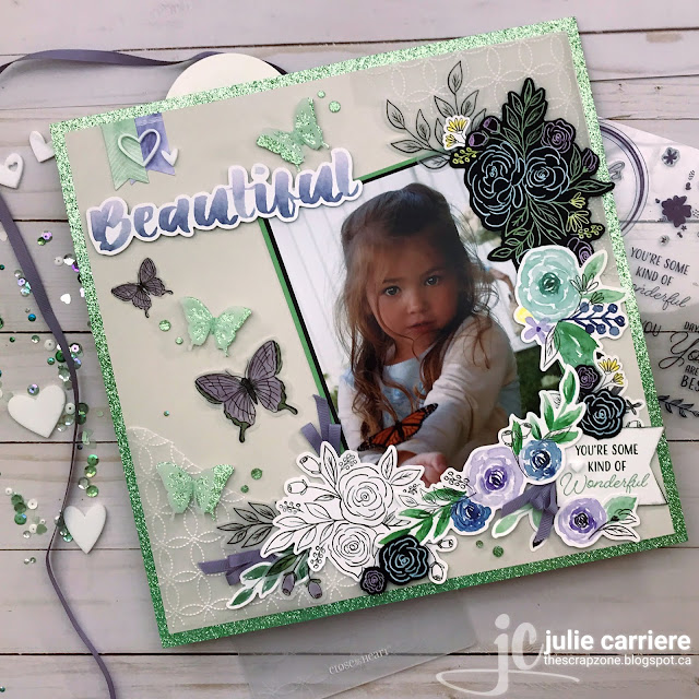 CTMH Butterfly Scrapbooking Layout