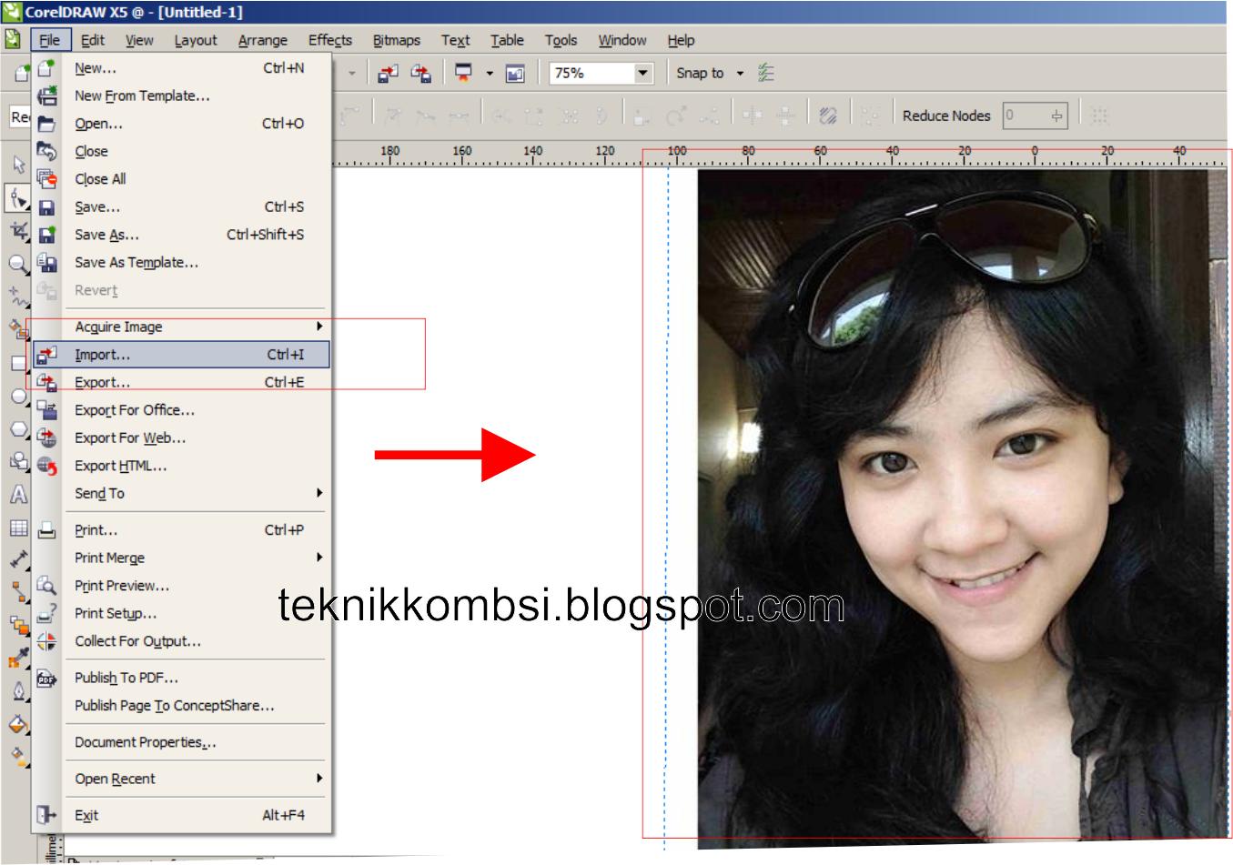 2 Langakah Cepat Merubah Foto Bitmap Menjadi Vektor Kartun Dengan