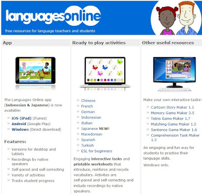 http://www.education.vic.gov.au/languagesonline/default.htm