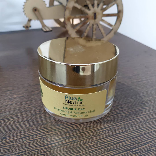 Blue Nector SHUBHR DAY Brightening and Radiance Eladi Cream with SPF 30 Review and Pictures