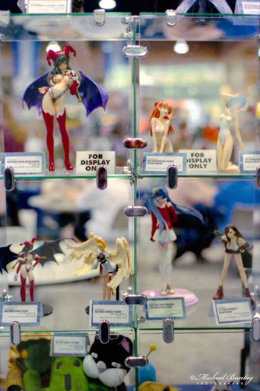 PVC Figures, Comic-Con International, San Diego Convention Center, Marina District, San Diego, California. Kodak Kodacolor Gold 400 GC Color Negative c-41 Film ISO 400,