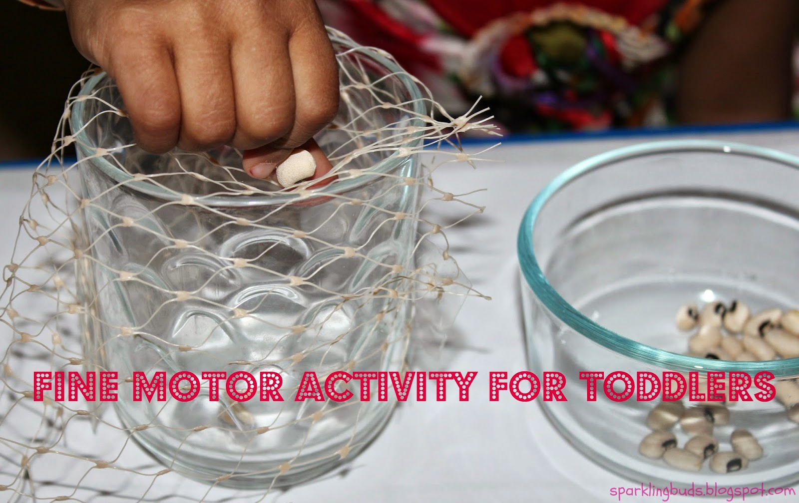 Fine Motor Activity With Vegetable Mesh Bag