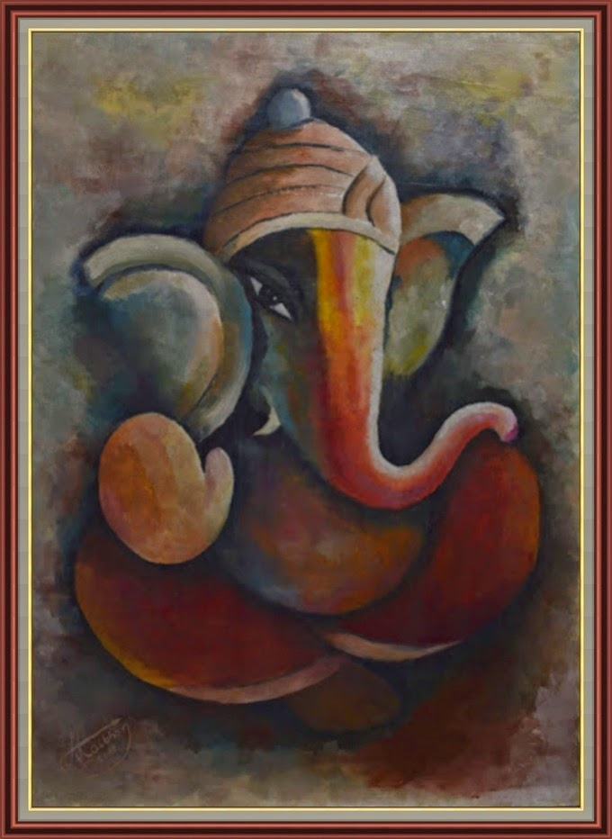 art4mheart: Lord Ganesha oil painting