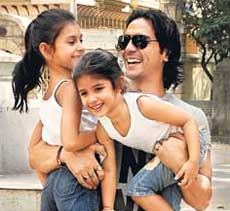Arjun Rampal with his doughters