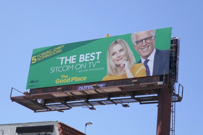 Good Place 2019 Emmy nominee billboard