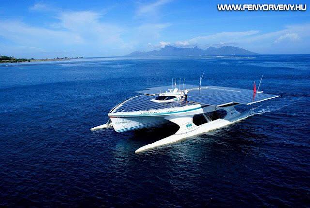 Rekordot döntött a napelemes hajó