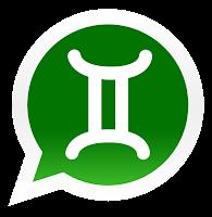 Iconos de los signos zodiacales para promocionar grupos de Whatsapp de geminis