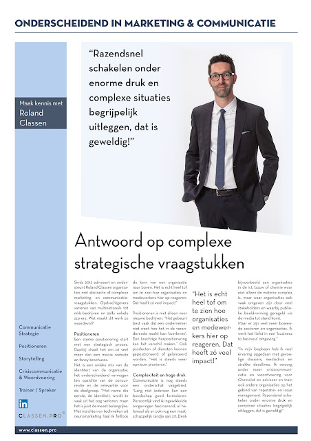 Onderscheidend in Marketing en Communicatie - Roland Classen