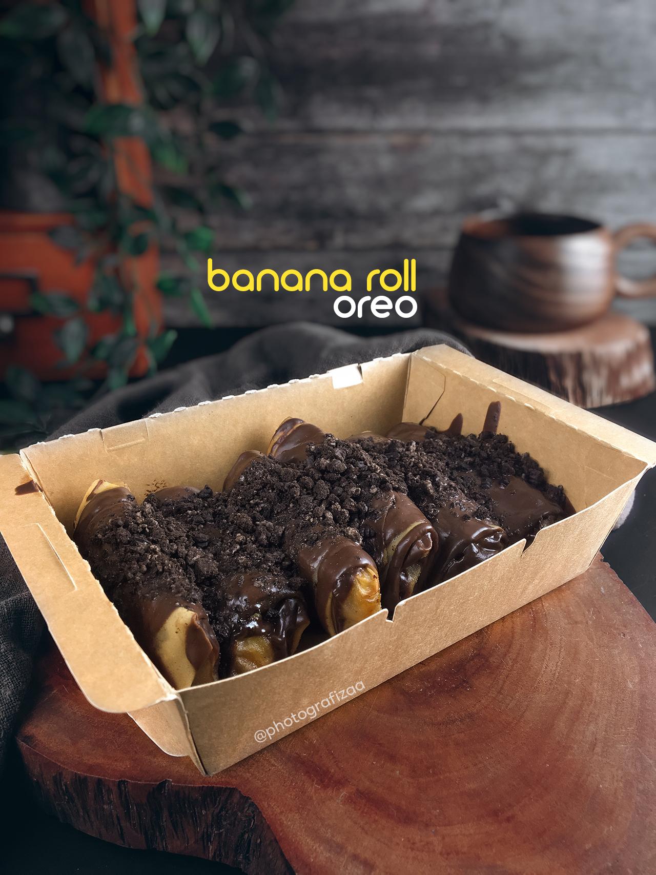 Banana Roll Oreo Coklat Melimpah