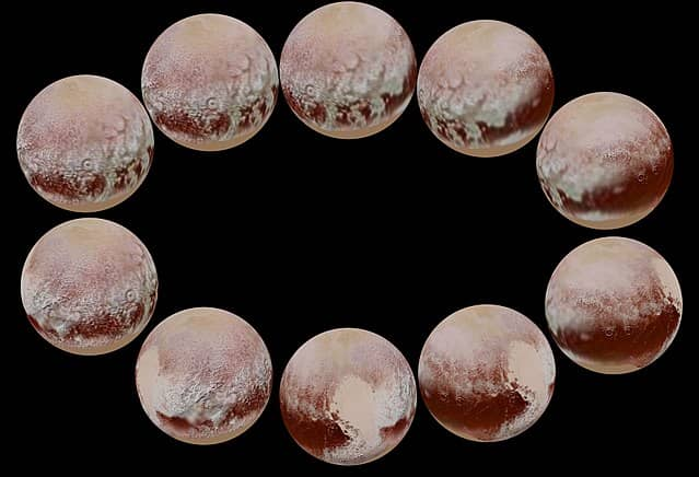 Images of Pluto from different angles